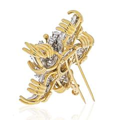 Tiffany Co TIFFANY CO SCHLUMBERGER PLATINUM 18K YELLOW GOLD STARFISH DIAMOND BROOCH - 1941080
