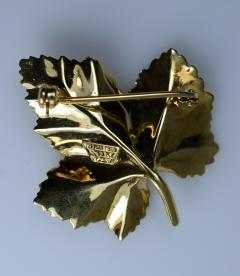 Tiffany Co Tiffany Brooch in the form of a Leaf - 438667