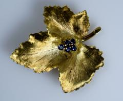 Tiffany Co Tiffany Brooch in the form of a Leaf - 438668