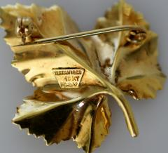 Tiffany Co Tiffany Brooch in the form of a Leaf - 438679