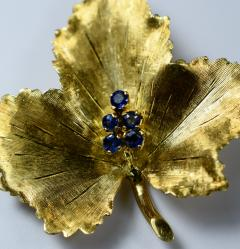 Tiffany Co Tiffany Brooch in the form of a Leaf - 438680