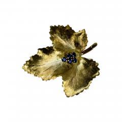Tiffany Co Tiffany Brooch in the form of a Leaf - 446009