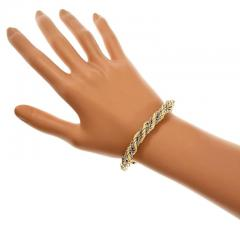 630fc7380b95 Tiffany and Co. - Tiffany   Co. Braided Rope Chain Gold Bracelet