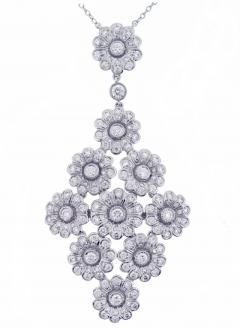b680cffb2 Tiffany and Co. - Tiffany & Co. Diamond Platinum Flower Necklace