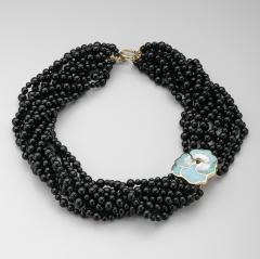Tiffany Co Tiffany Co Multi Strand Onyx Beaded Necklace - 244718