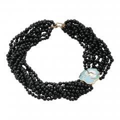 Tiffany Co Tiffany Co Multi Strand Onyx Beaded Necklace - 245111