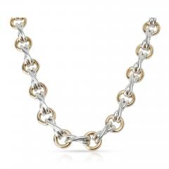 Tiffany Co Tiffany Co Paloma Picasso X O Necklace in 18K Yellow Gold Sterling Silver - 1709444