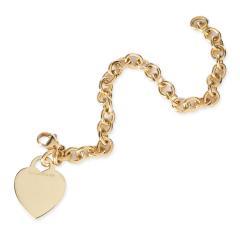Tiffany Co Tiffany Co Return to Tiffany Medium Heart Tag Bracelet in 18KT Yellow Gold - 1709218