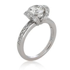 Tiffany Co Tiffany Co Ribbon Diamond Engagement Ring in Platinum H VS1 1 32 CTW - 1709214