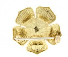 0c7b1ce4075 Tiffany Co Tiffany Co Ruby Gold Dogwood Flower Brooch - 442215