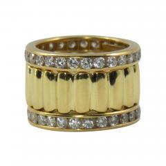 Tiffany Co Tiffany Co Set of Three Diamond and Yellow Gold Eternity Bands - 80533