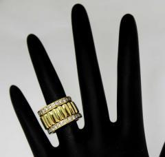 Tiffany Co Tiffany Co Set of Three Diamond and Yellow Gold Eternity Bands - 80534