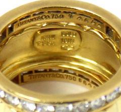 Tiffany Co Tiffany Co Set of Three Diamond and Yellow Gold Eternity Bands - 80536
