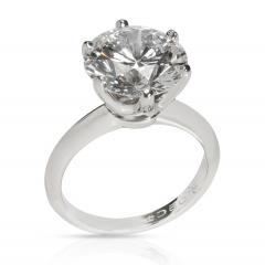 Tiffany Co Tiffany Co Solitaire Diamond Engagement Ring in Platinum D VS1 5 02 CT - 1708548