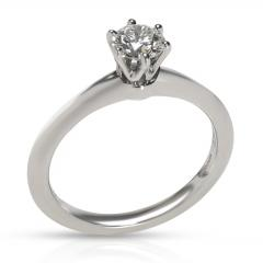 Tiffany Co Tiffany Co Solitaire Diamond Engagement Ring in Platinum H VS1 0 46 CTW - 1708555