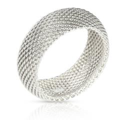 Tiffany Co Tiffany Co Somerset Mesh Bangle in Sterling Silver - 1708642
