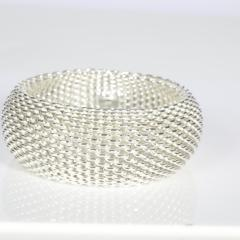 Tiffany Co Tiffany Co Somerset Mesh Bangle in Sterling Silver - 1708643