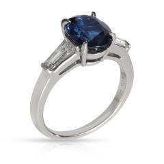 Tiffany Co Tiffany Co Three Stone Sapphire Diamond Ring in Platinum 0 50 CTW - 1709263