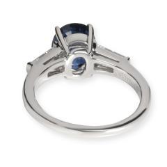 Tiffany Co Tiffany Co Three Stone Sapphire Diamond Ring in Platinum 0 50 CTW - 1709264