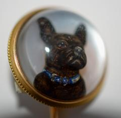Tiffany Co Tiffany Reversed Intaglio Crystal French Bulldog - 327122