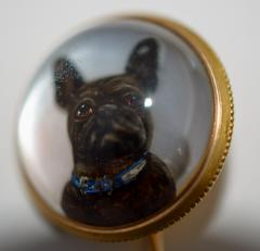 Tiffany Co Tiffany Reversed Intaglio Crystal French Bulldog - 327123