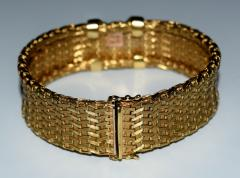 Tiffany and Co 18K Gold Tiffany Co Woven X Bracelet - 599024