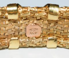 Tiffany and Co 18K Gold Tiffany Co Woven X Bracelet - 599025