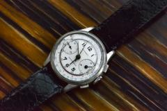 Tiffany and Co 1940s Tiffany Chronograph Telemeter Stainless Steel Aviation Wristwatch - 867457