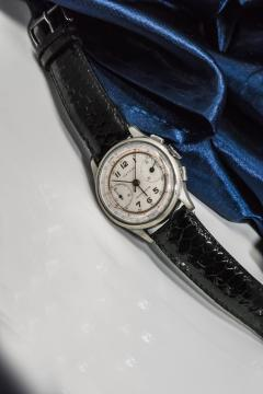 Tiffany and Co 1940s Tiffany Chronograph Telemeter Stainless Steel Aviation Wristwatch - 867754