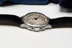 Tiffany and Co 1940s Tiffany Chronograph Telemeter Stainless Steel Aviation Wristwatch - 867755