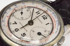 Tiffany and Co 1940s Tiffany Chronograph Telemeter Stainless Steel Aviation Wristwatch - 867790