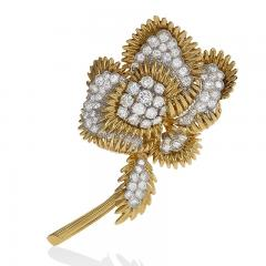 Tiffany and Co Gold and Platinum Brooch with Diamonds by Tiffany Co  - 917473