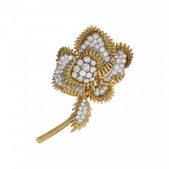 Tiffany and Co Gold and Platinum Brooch with Diamonds by Tiffany Co  - 919189