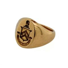 Tiffany and Co Tiffany Co 14k Signet Ring with Coat of Arms - 1121579