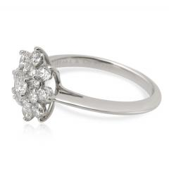 Tiffany and Co Tiffany Co Diamond Flower Ring in Platinum 0 60 CTW  - 1284610