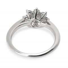 Tiffany and Co Tiffany Co Diamond Flower Ring in Platinum 0 60 CTW  - 1284614