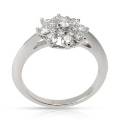 Tiffany and Co Tiffany Co Diamond Flower Ring in Platinum 0 60 CTW  - 1284615