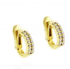 Tiffany and Co Tiffany Co Diamond Hoop Earrings - 1159864