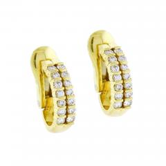 Tiffany and Co Tiffany Co Diamond Hoop Earrings - 1159955