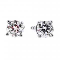 Tiffany and Co Tiffany Co Diamond Stud Earrings - 1466221