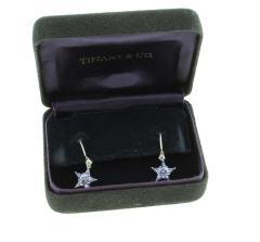 Tiffany and Co Tiffany Co Diamond and Sapphire Star Earrings - 1263566