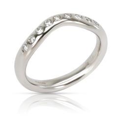 Tiffany and Co Tiffany Co Elsa Peretti Diamond Band in Platinum 0 06 CTW - 1283061