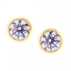 Tiffany and Co Tiffany Co Elsa Peretti Diamonds by the Yard Certified Stud Earrings - 1096393