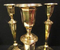 Tiffany and Co Tiffany Co Gold Plated Sterling Silver Candlesticks - 1178753