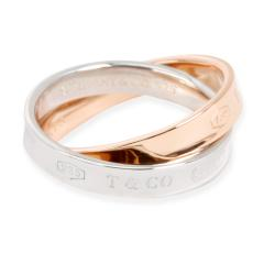Tiffany and Co Tiffany Co Interlocking Circles Ring in 18K Rose Gold Sterling Silver - 1260581