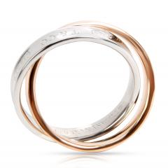Tiffany and Co Tiffany Co Interlocking Circles Ring in 18K Rose Gold Sterling Silver - 1260585