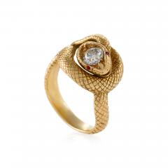 Tiffany and Co Tiffany Co Late 19th Century Diamond Ruby and Gold Serpent Ring - 718870