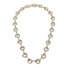 Tiffany and Co Tiffany Co Paloma Picasso X O Necklace in 18K Yellow Gold Sterling Silver - 1282646