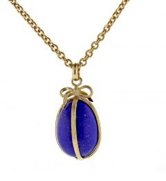 Tiffany and Co Tiffany Co Schlumberger Lapis Egg Pendant - 1028850