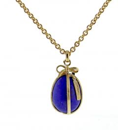 Tiffany and Co Tiffany Co Schlumberger Lapis Egg Pendant - 1028851